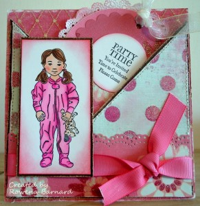 Quixotic Paperie - Whimsy Stamps - Pajama Time Emma - Project by Rowena aka CraftyPagan