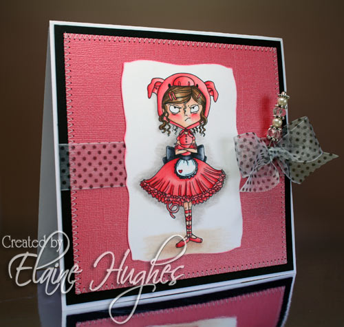 Kraftin' Kimmie Stamps - Angry Ballerina - available from 14th March 2010 at www.quixoticpaperie.co.uk
