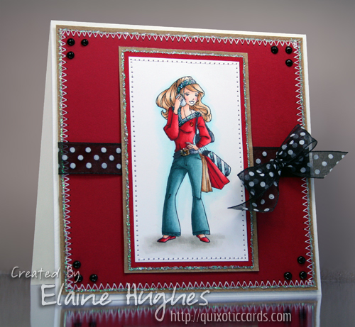 Elisabeth Bell for SCACD Fashionista - available at www.quixoticpaperie.co.uk