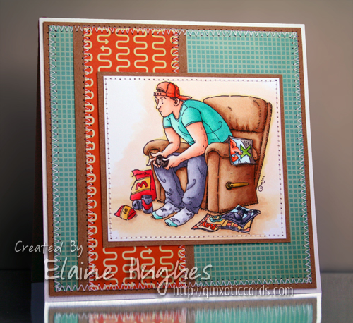 Mo Manning for Stamping Bella - Game On - available in the UK at www.quixoticpaperie.co.uk