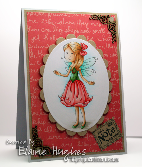 SCACD Stamps  - Fall Fairy Collection - Friendship Rose available at www.quixoticpaperie.co.uk