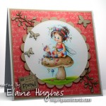 Sylvia Zet for SCACD Stamps - Poppy - available soon at www.quixoticpaperie.co.uk