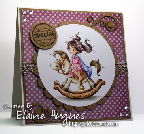 Sylvia Zet for SCACD Stamps - Princess - available at www.quixoticpaperie.co.uk
