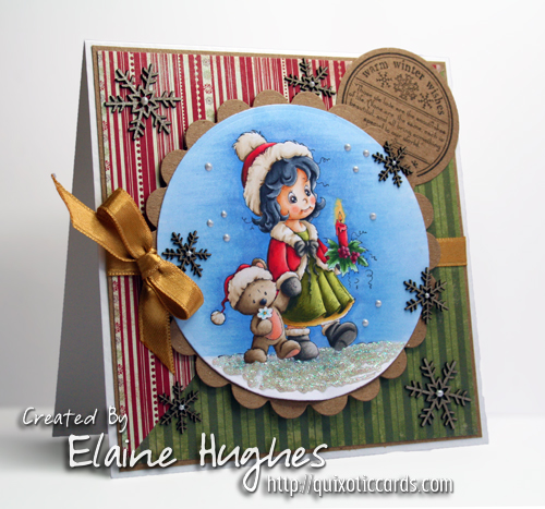 Sylvia Zet for SCACD Stamps - Winter Wonder - available at www.quixoticpaperie.co.uk