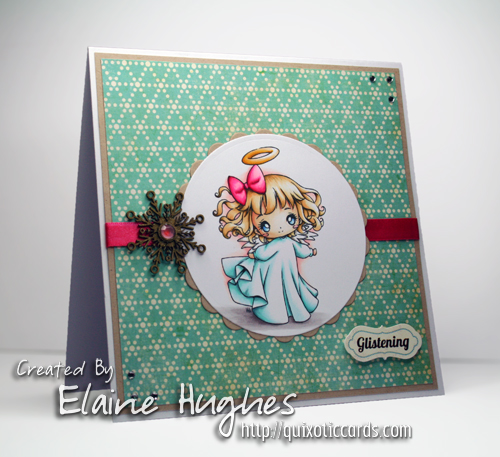 Make it Crafty Christmas Angel - www.quixoticcards.com