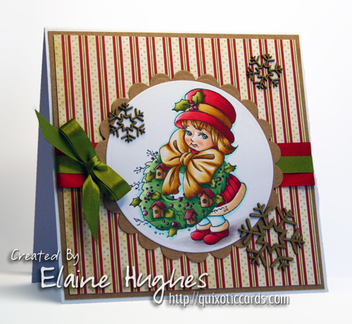 Elisabeth Bell for SCACD Stamps - Festive Welcome Peeker - available at www.quixoticpaperie.co.uk