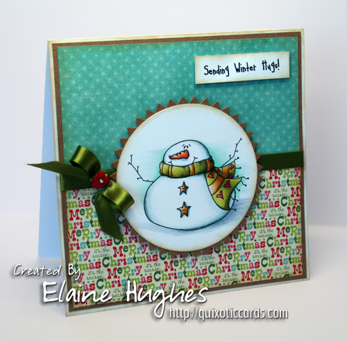 Kraftin' Kimmie Stamps - Sending Winter Hugs - available at www.quixoticpaperie.co.uk