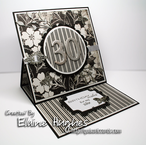 Elegant 30th Birthday Card www.quixoticcards.com