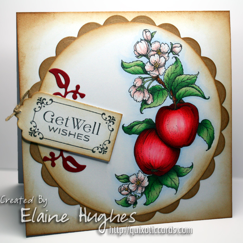 Flourishes LLC - Apple of My Eye - www.quixoticcards.com