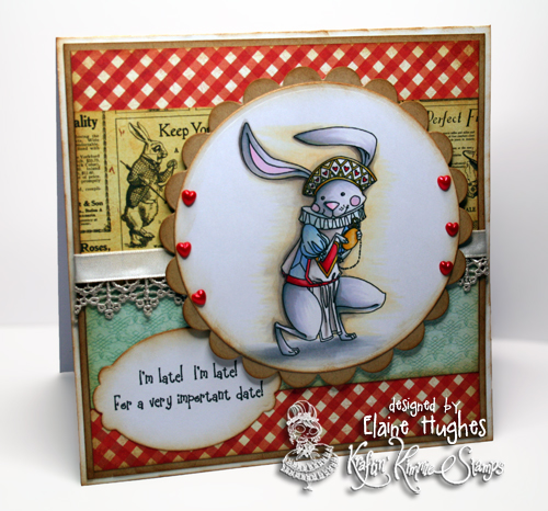 Kraftin' Kimmie Stamps - White Rabbit - available at www.quixoticpaperie.co.uk