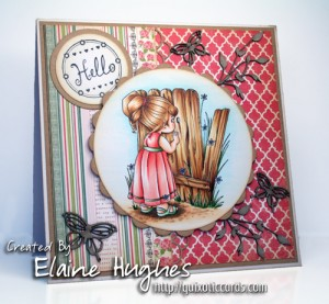 Elisabeth Bell for SCACD Stamps - Secret Garden Peeker - available at www.quixoticpaperie.co.uk