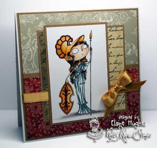 Kraftin' Kimmie Stamps - Athena - available at www.quixoticpaperie.co.uk