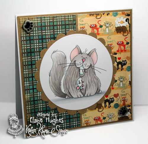 Kraftin' Kimmie Stamps - Kitty Kapers - available at www.quixoticpaperie.co.uk