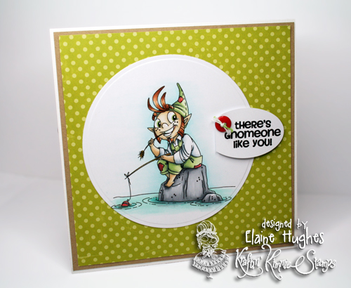 Kraftin' Kimmie Stamps - Gnome - available at www.quixoticpaperie.co.uk