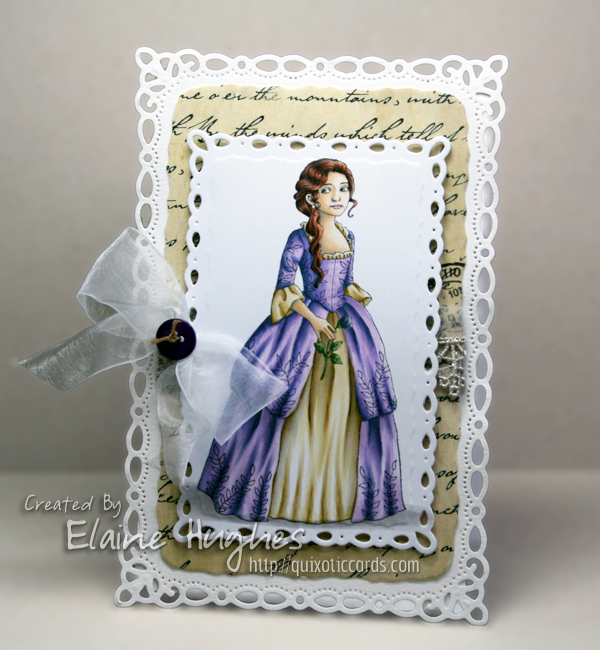 Carmen Medlin for SCACD Stamps - The Georgian - available at www.quixoticpaperie.co.uk