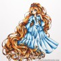 Make it Crafty - Maiden with Long Golden Hair - www.quixoticcards.com