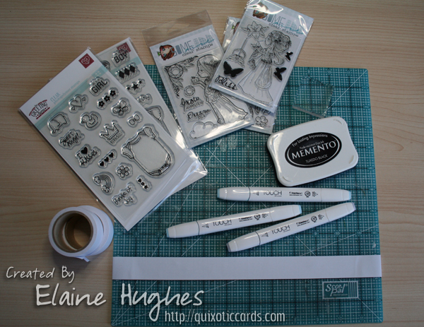 The Greeting Farm - Build-a-Onesie stamp sets available at www.quixoticpaperie.co.uk