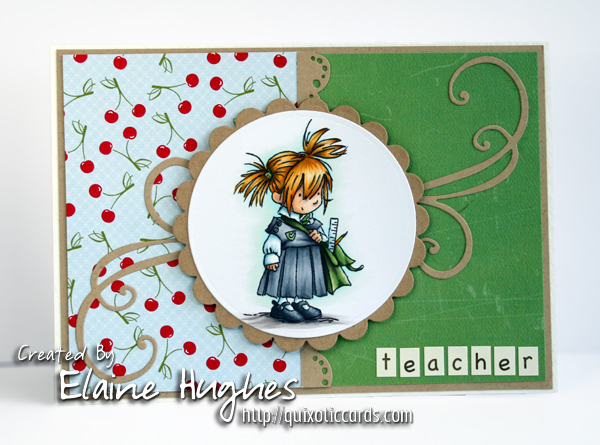 Lili of the Valley Teacher Card - www.quixoticcards.com