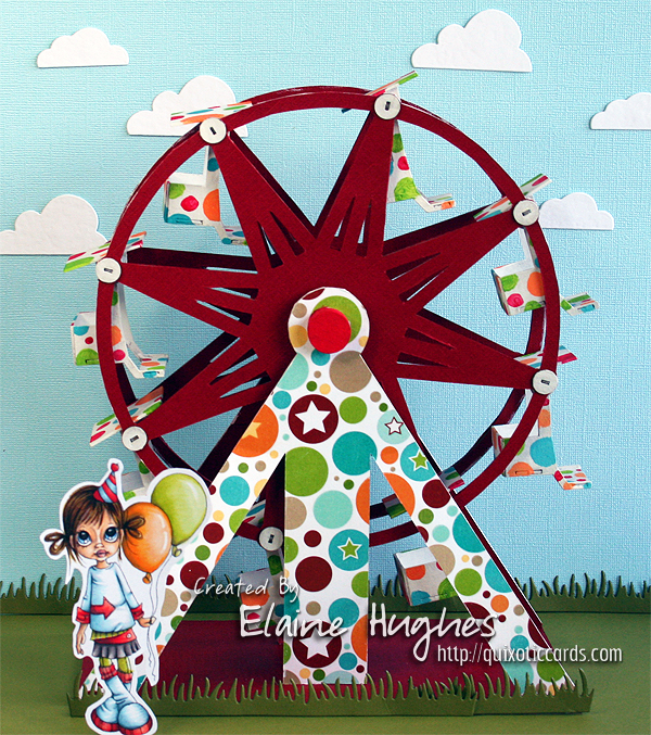 Saturated Canary stamp & Make it Crafty Ferris Wheel available at www.quixoticpaperie.co.uk