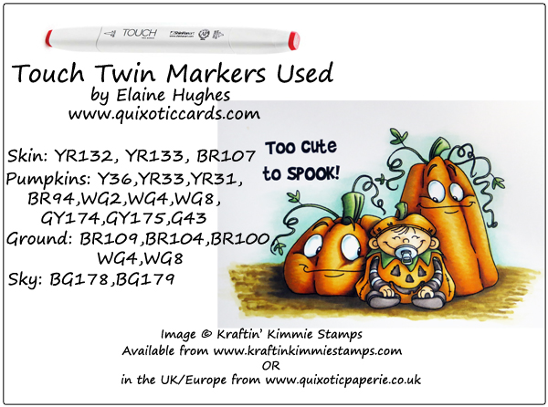 Kraftin' Kimmie Stamps - Too Cute To Spook 1 - available at www.quixoticpaperie.co.uk