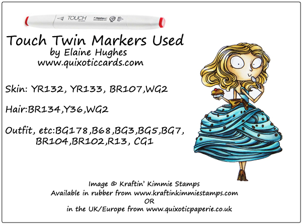 Kraftin' Kimmie Stamps - Izzy Ice Cream - available in the UK from www.quixoticpaperie.co.uk