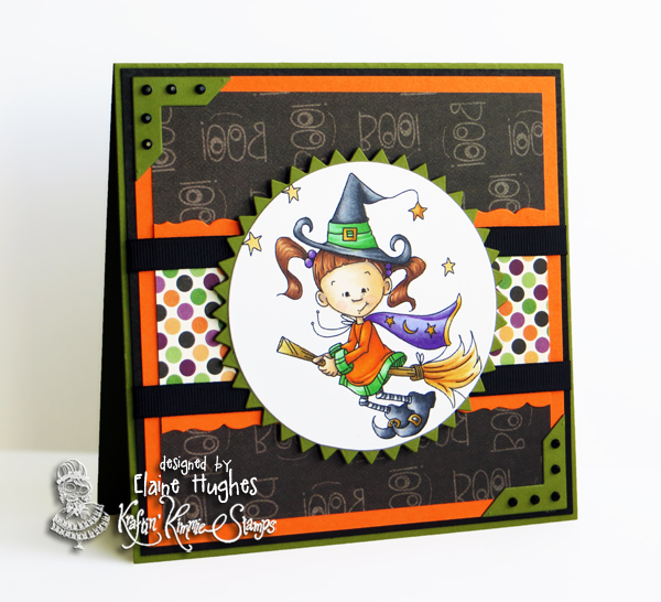 Kraftin' Kimmie Stamps - Halloween Lulu set - available in the UK at www.quixoticpaperie.co.uk