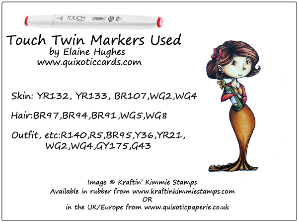 Kraftin' Kimmie Stamps - Nettie - available in the UK at www.quixoticpaperie.co.uk