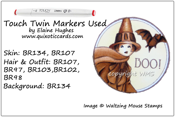 Waltzing Mouse Stamps - Halloween Cicely - www.quixoticcards.com