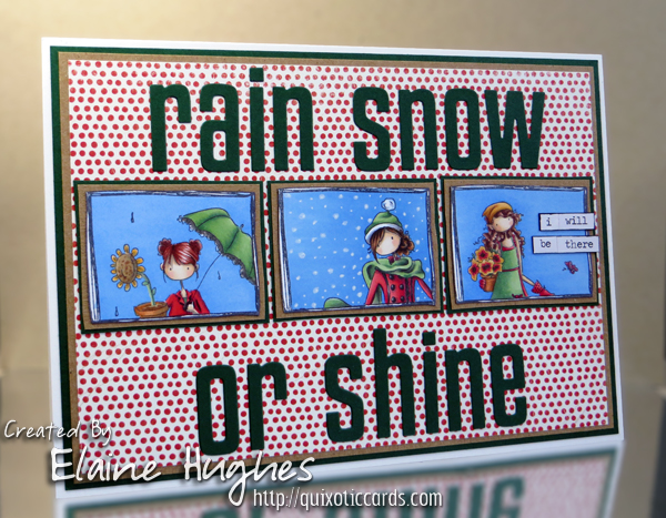 Stamping Bella - Uptown Girls Rain Snow Shine by www.quixoticcards.com/blog