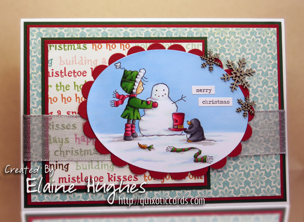 Stamping Bella - Mister Penguin Helping Ramona - www.quixoticcards.com/blog