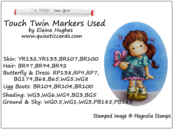 Magnolia Stamps - Tilda in Ugg Shoes - www.quixoticcards.com/blog