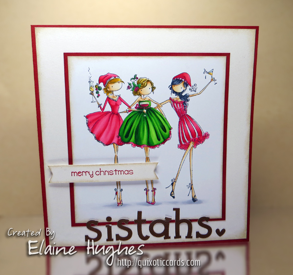 Stamping Bella - Uptown Girls - Three Amigas - www.quixoticcards.com