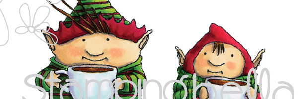 Stamping Bella Elves Buddy & Jolly - www.markergeek.com