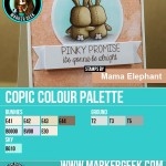 Mama Elephant - Honey Bunny Copic Marker Palette - www.markergeek.com