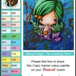 The Greeting Farm Magical Kit Mermaid Copic Colour Palette - www.markergeek.com