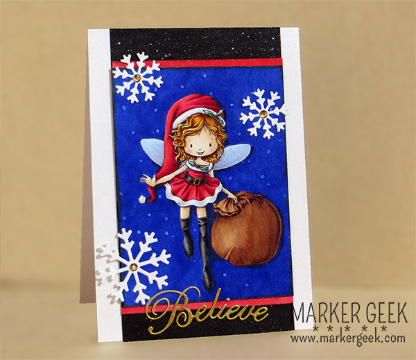 Tiddly Inks Clear Stamps - Willow Christmas Fairy - www.markergeek.com