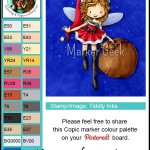 Tiddly Inks Clear Stamps - Willow Christmas Fairy Copic Colour Palette - www.markergeek.com