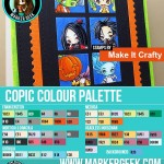 Make it Crafty - MiniMonstaz Copic Colour Palette - www.markergeek.com
