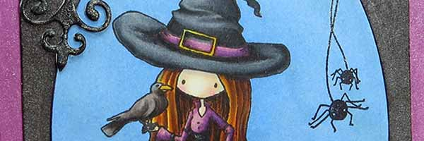 Tiddly Inks - Bewitching Halloween Card - www.markergeek.com