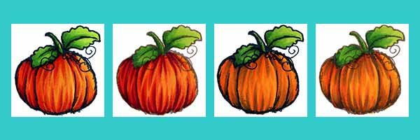 Pumpkins - Copic & Touch Twin Marker Combos - www.markergeek.com