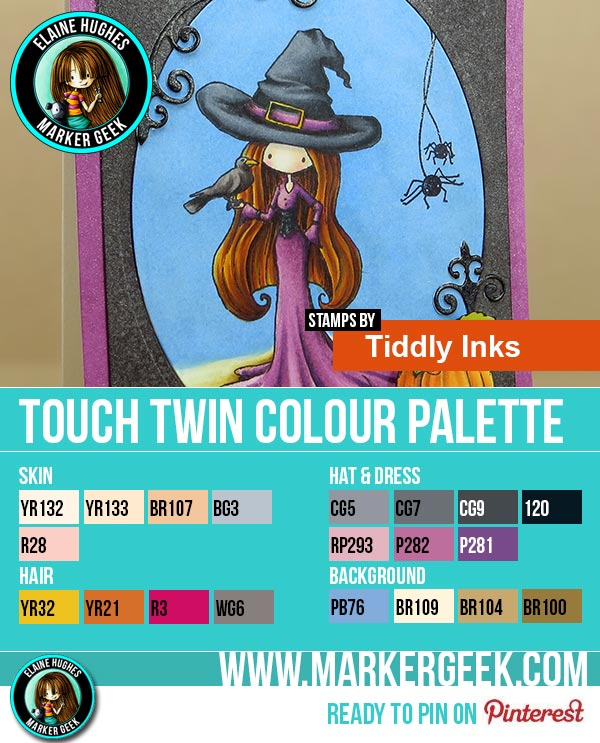 Tiddly Inks Bewitching Touch Twin Marker Colour Palette - www.markergeek.com