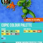 Make it Crafty Fiery Baby Dragon Copic Marker Palette - www.markergeek.com