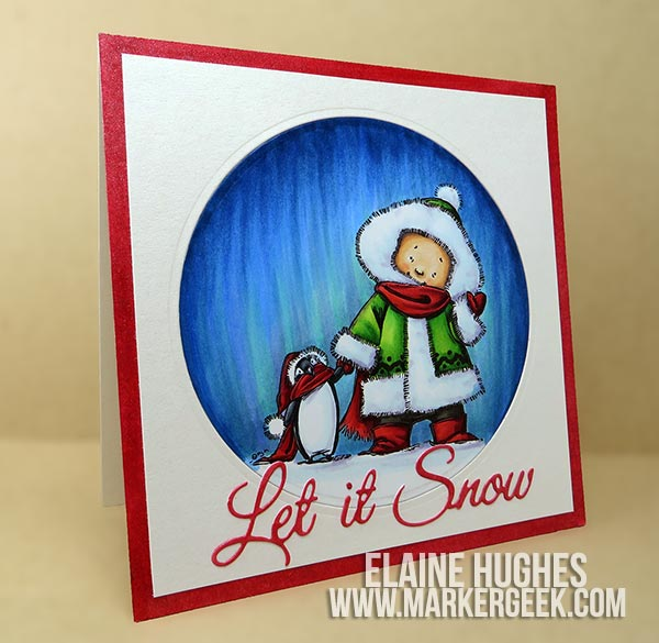 Stamping Bella - Mo Manning Snow Pals Card & Video - www.markergeek.com