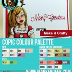 Make it Crafty Phoebe's Christmas Wish Copic Marker Colour Palette - ww.markergeek.com