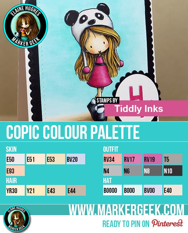 Tiddly Inks - Beary Sweet Wryn Copic Colour Palette - www.markergeek.com