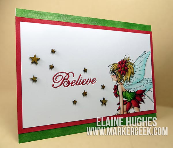 Make it Crafty Fairy Poinsettia Card & Video - ww.markergeek.com