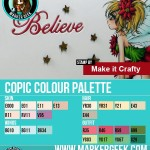 Make it Crafty Fairy Poinsettia Copic Marker Colour Palette - ww.markergeek.com