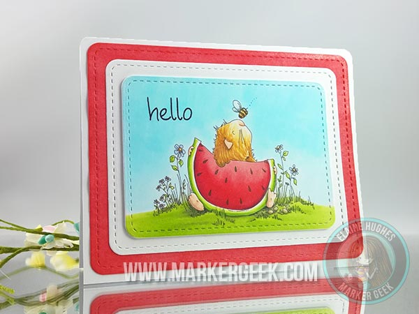 Stamping Bella - The Woodsies - Gilbert Has a Snack - www.markergeek.com