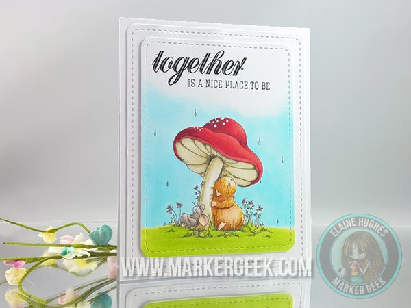Stamping Bella - The Woodsies - Gilbert & Maisy Under The Toadstool www.markergeek.com