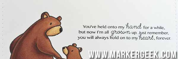 Mama Elephant Bear Hugs Card & Video - www.markergeek.com
